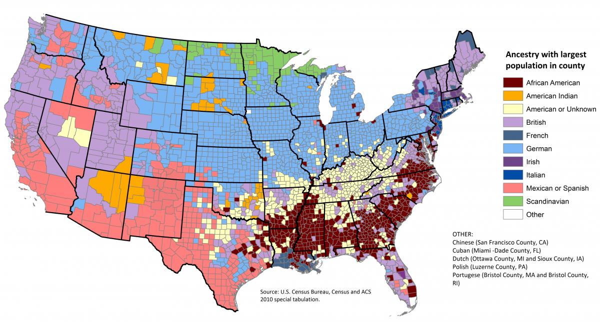 US Ethnicity by County